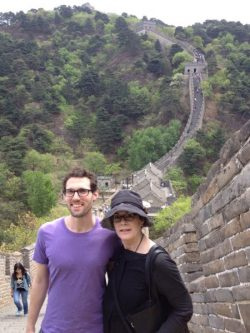 Romance Writer Julie Tetel Andresen at Great Wall of China
